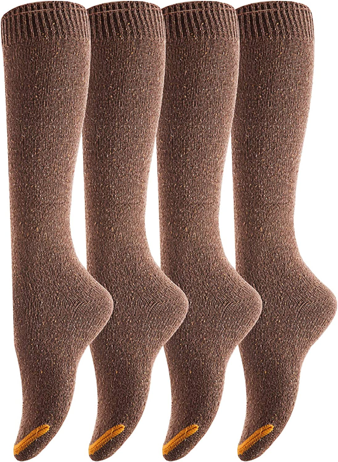 Coffee Lovely Annie Womens 4 Pairs Pack Knee High Cotton Socks Size
