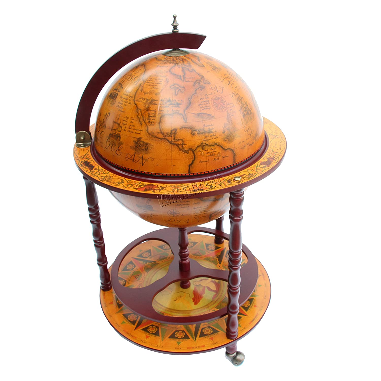 Preferred WestWood Globe Shaped Mini Bar Drinks Cabinet Retro Style Host  FO69