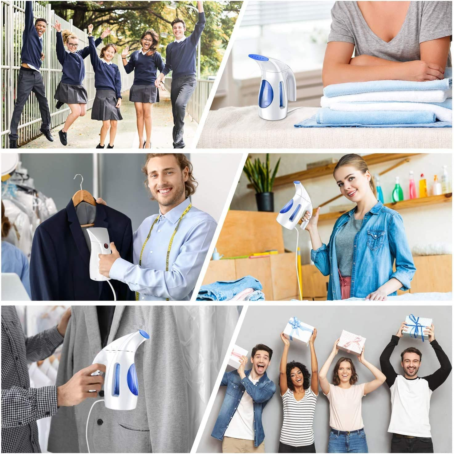 Hilife Steamer for Clothes Steamer, Handheld Garment Steamer Clothing, Mini Travel Steamer Fabric Steam Iron 240ml Big Capacity Upgraded Version