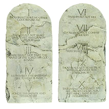 Superbe The Ten Commandments Tablets Cast Stone Tablet Set