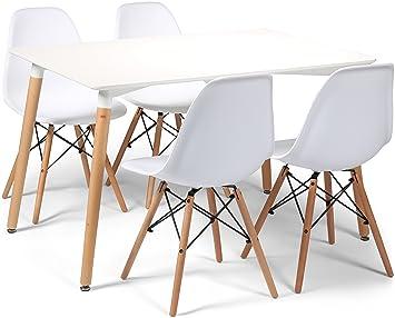 Your Price Furniture Eiffelturm Designer Esstisch Set 4 Stuhle Und