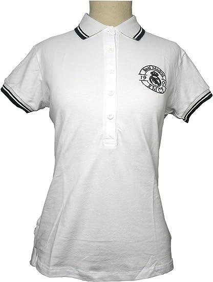 Polo Real Madrid Mujer Blanco/Negro: Amazon.es: Ropa y accesorios