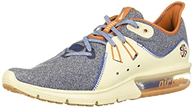 15a461e36d Nike Men's Air Max Sequent 3 PRM VST Competition Running Shoes, Multicolour  (Blackened Blue