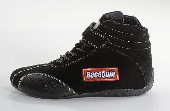 RaceQuip 30500125 Euro Carbon-L Series Size 12.5 Black SFI 3.3//5 Racing Shoes