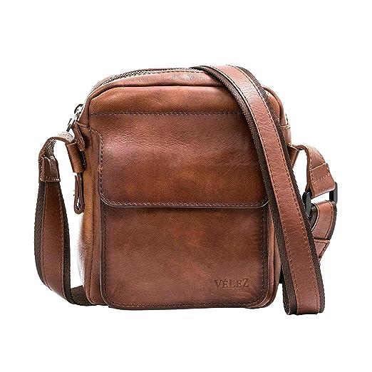 Amazon.com | VÉLEZ 20240 Men Genuine Leather Crossbody Bag | Bandolera De Cuero Honey | Backpacks