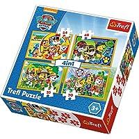 Trefl Çocuk Puzzle Always On Time. Paw Patrol 35+48+54+70 Parça 4 in 1 Puzzle