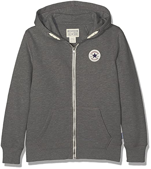 9fa969727ad14c Converse Core Chuck Taylor Patch Hoodie - Charcoal Heath - 4-5 Years   104
