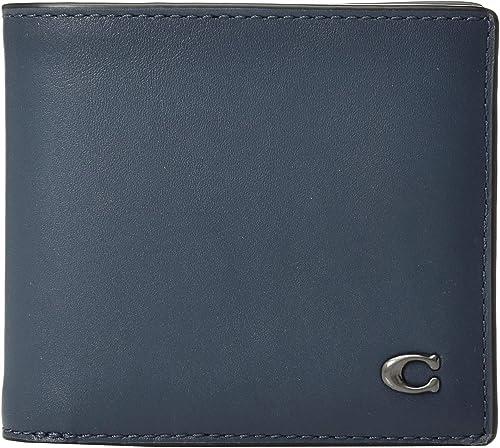 02f3595142 Amazon.com: COACH Men's Double Billfold in Signature Hardware Blue ...