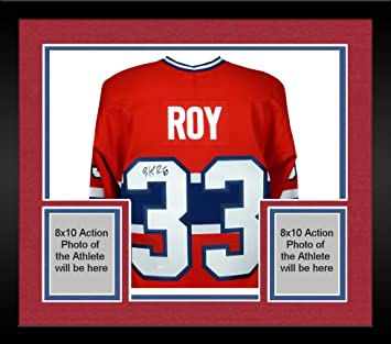 Framed Patrick Roy Montreal Canadiens Autographed Centennial Red Jersey -  Upper Deck - Fanatics Authentic Certified 0eadd976b3e