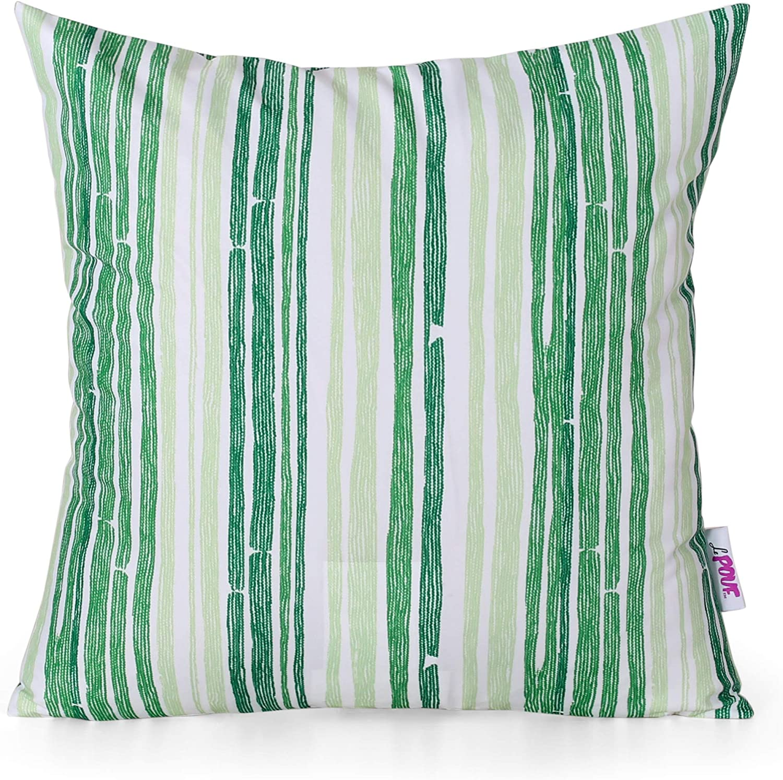 Christopher Knight Home 311800 Lillian Throw Pillow Set Of 2 Green Garden Outdoor