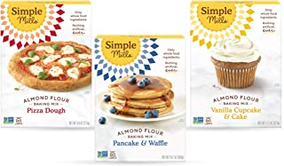 product image for Simple Mills, Baking Mix Variety Pack, Pancake & Waffle, Pizza Dough, Vanilla Muffin & Cake Variety Pack, 3 Count (Packaging May Vary)