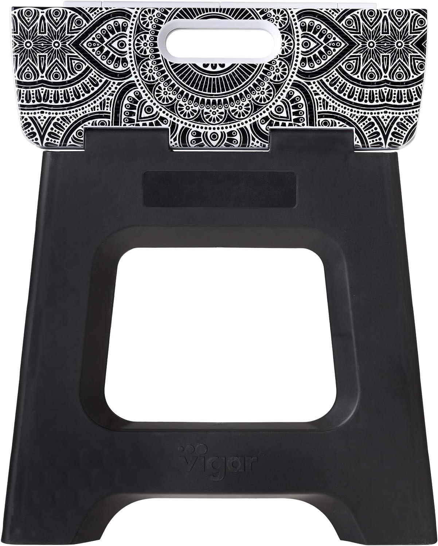 VIGAR Opera Compact Tabouret Pliable Dimensions: 35/x 26/x 32/cm Couleur: Noir mat/ériau: Plastique