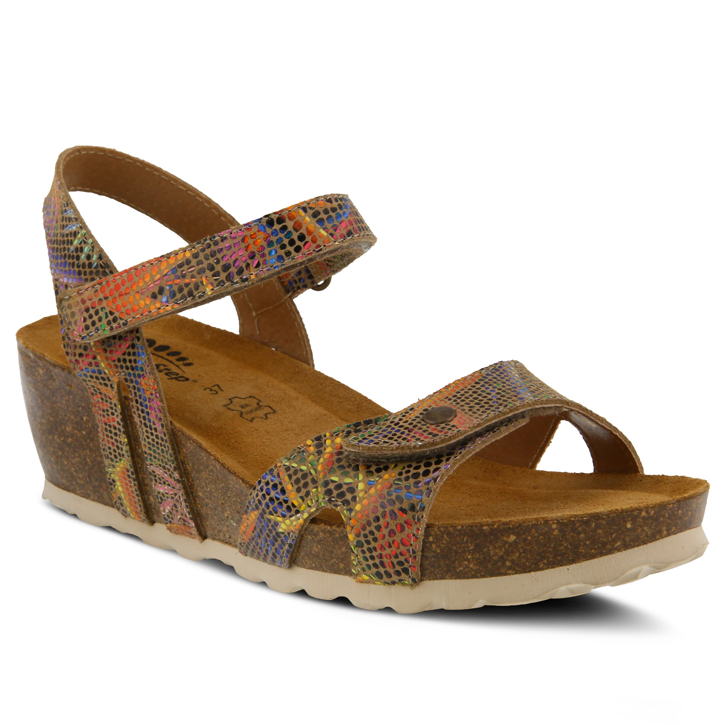 Spring Step Women's Style Charanga Beige EURO Size 38 Leather Slide Sandal