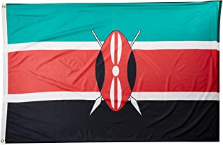 product image for Annin Flagmakers Model 194452 Kenya Flag Nylon SolarGuard NYL-Glo, 4x6 ft, 100% Made in USA to Official United Nations Design Specifications