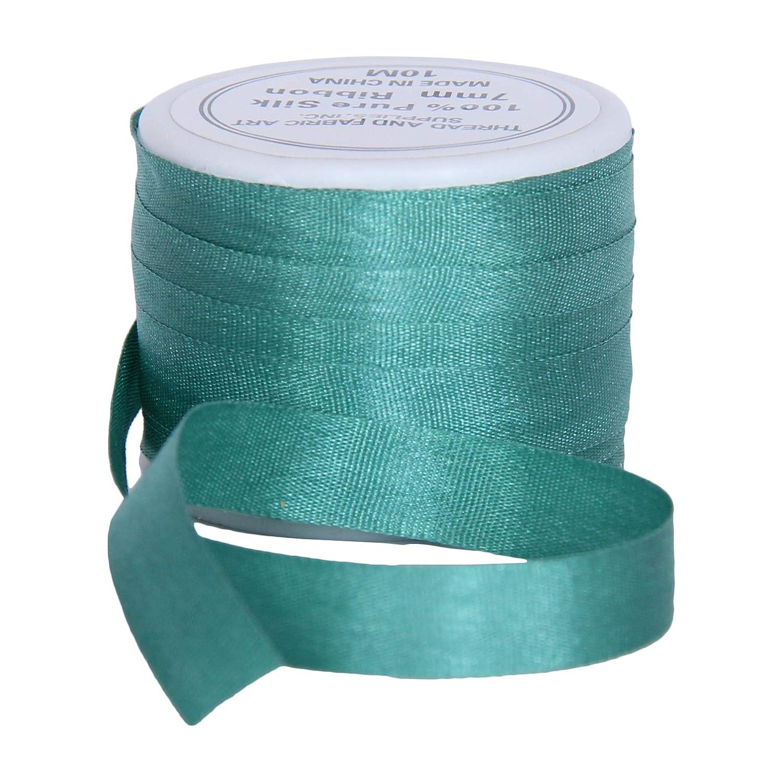 No 002-3 Sizes 2mm Black 50 Colors Threadart 100/% Pure Silk Ribbon