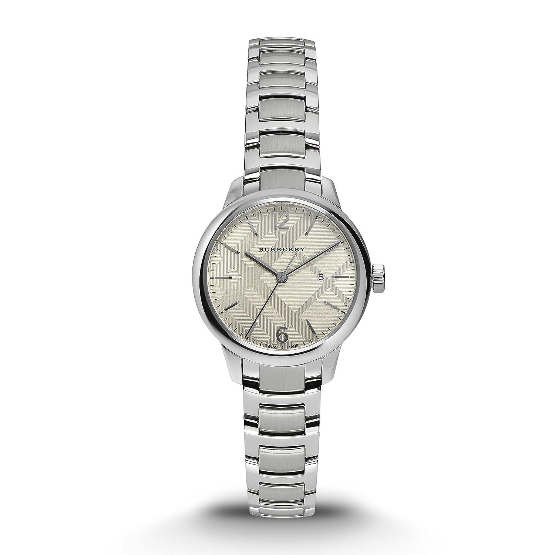bba6bd7ca670 Amazon.com  Burberry Women s Swiss Stainless Steel Bracelet Watch BU10108   Watches