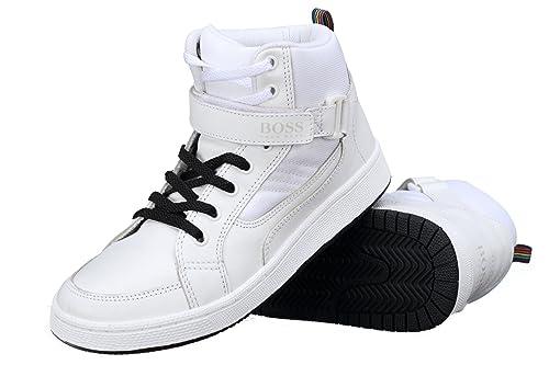 Hugo Boss - Zapatillas de Deporte para niño Blanco Blanco: Amazon.es: Zapatos y complementos
