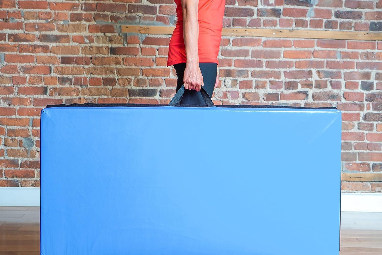 Grueso 240cm 5cm Prime Selection Products Colchoneta de Gimnasia 240cm Plegable de Suave Espuma antiderrapante para Ejercicio Fitness y Gimnasia en Interiores y en casa; Largo Ancho 120cm