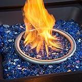 "Barton 1/2"" Reflective Fire Glass for Propane Fire"