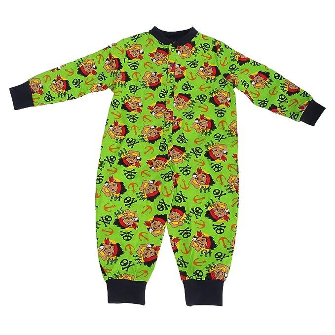 Disney - Pijama Entero/Mono Pijama Abotonado con diseño de Jake y los Piratas del