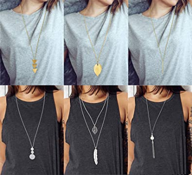 Woman/'s Multi layer Pearl Necklace Pendant Long Sweater Chain Charm