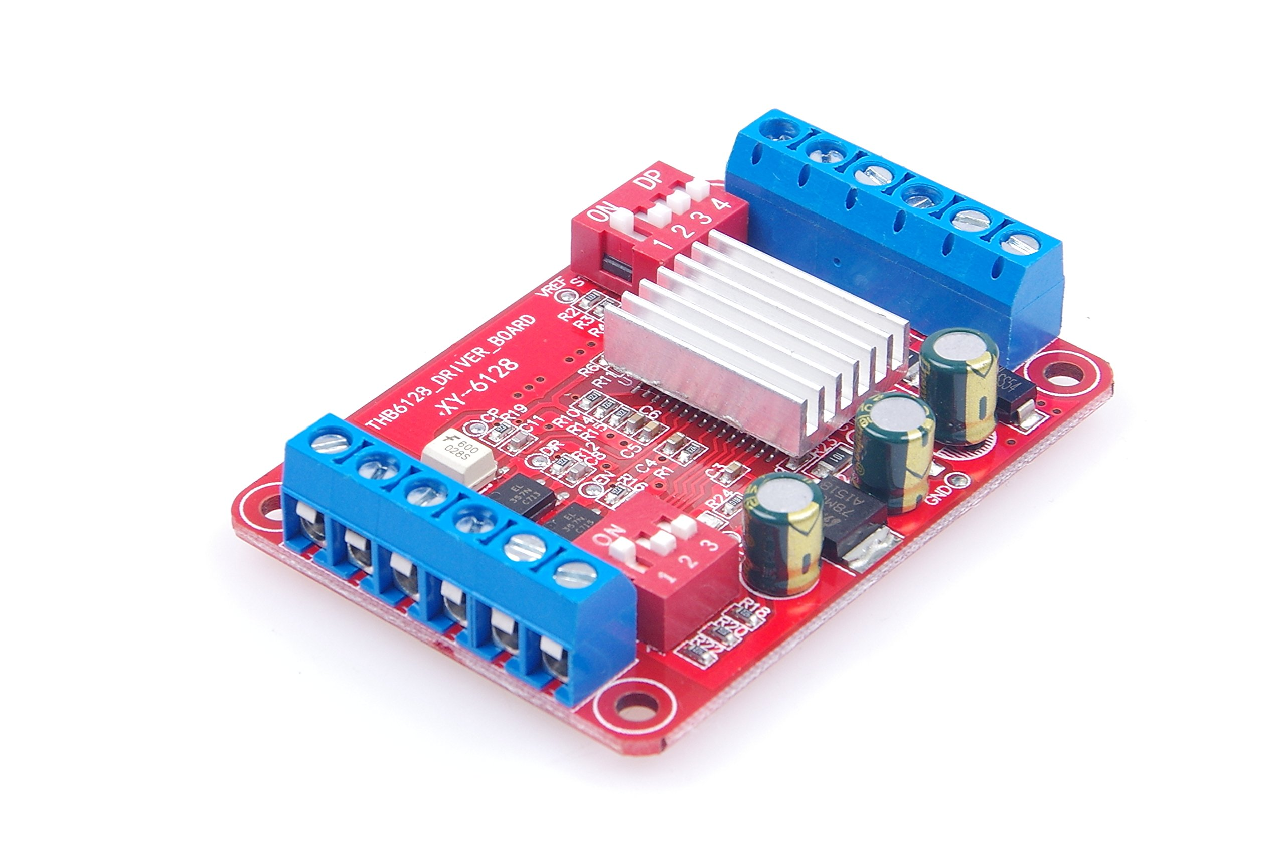 LM YN THB6128 Stepper Motor Drive Control Module Two-phase Four-wire 30V 2A Drive Board 1,2,4,8,16,32,64,128 Subdivision Optional