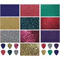 Guitar Pick Strip Pack - Pick Punch Refill Kit - Metallic Edition - Plastic Card Assortment for Guitar Pick Punch Includes 10 Different Styles - Nextronics