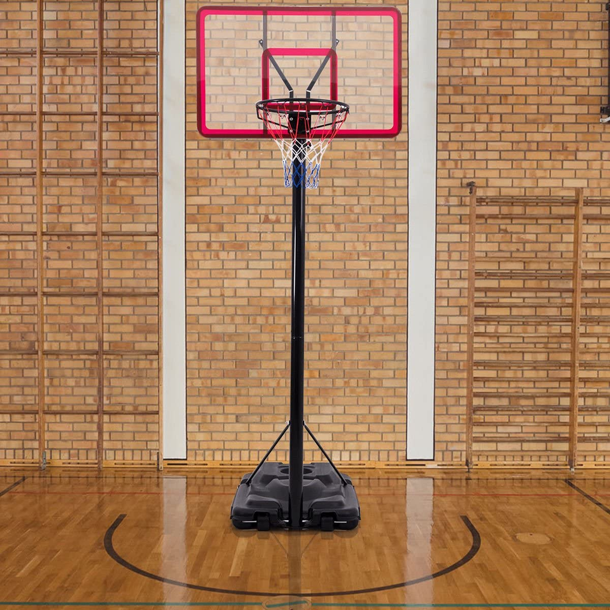 KCHEX>>>10フィート 高さ調節可能 バスケットボール システム フープ スタンド バックボード アウトドア ホイール付き>当社のバスケットボール スタンドは真のバスケットボール体験を提供します。 頑丈なベース、バックボード、構造。
