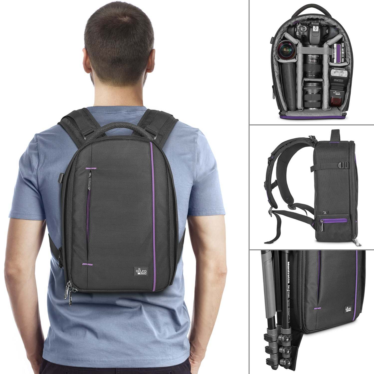 4d5b7b77f6ad Buy DSLR Camera and Mirrorless Backpack Bag by Altura Photo for Camera and  Lens (The Light Traveler Series) Online at Low Price in India
