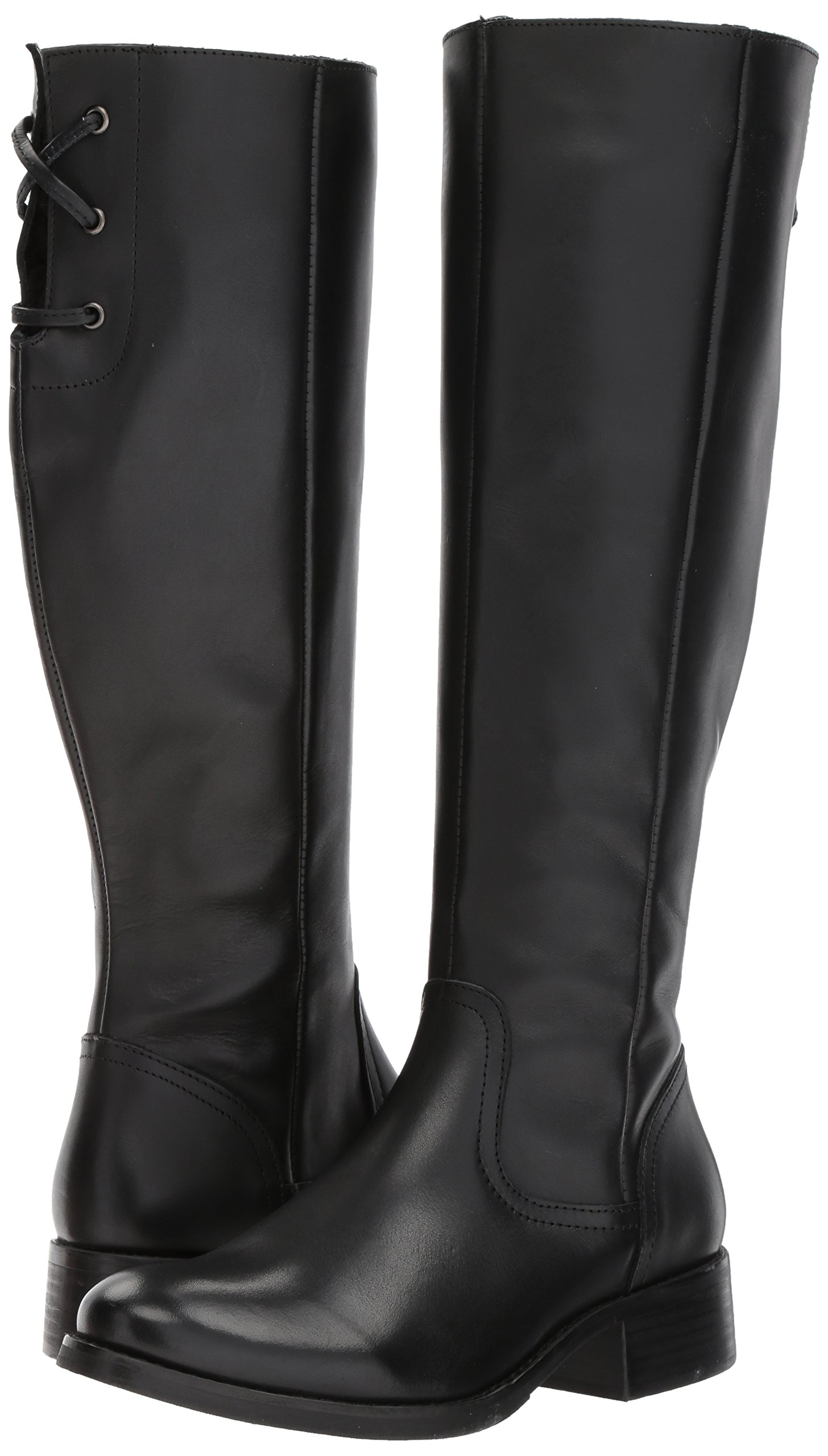 Steve Madden Women's Lover Western Boot, Black Leather, 8.5 M US by Steve Madden (Image #6)
