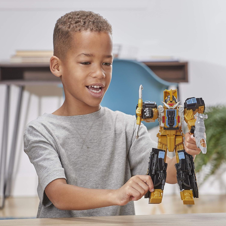 Action Figure da 25 cm, Ispirata allo Zord del Ranger Oro della Serie TV Power Rangers Beast Morphers Power Rangers Zord Beast Wrecker