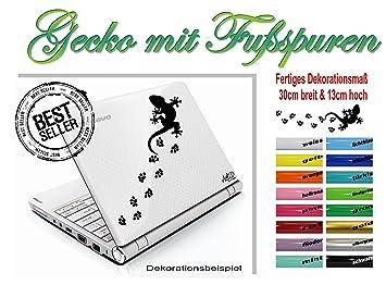 "Portátil/Skin para portátiles - adhesivo ""Gecko con huellas"" 30 cm x"