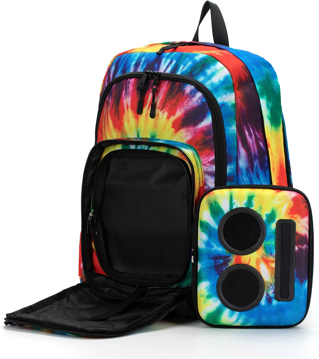 Bluetooth Speaker Backpack with 20-Watt Speakers /& Subwoofer for Parties//Festivals//Beach//School Works with iPhone /& Android Rechargeable Tie Dye, 2019 Edition