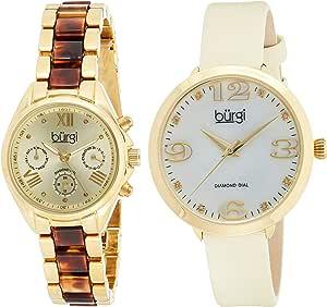 Burgi Watch Analogue Display and Strap BUR134YG_Gold-Standard