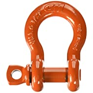 """CM M652P Super Strong Anchor Shackle with Orange Powder Coated Screw Pin, 6-1/2 Ton Work Load Limit, 3/4"""" Size"""