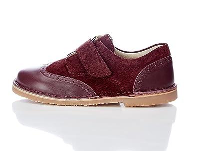 RED WAGON Jungen Budapester-Schuhe mit Glatt- und Rauleder, Braun (Brick Colour Ref 616), 26.5 EU