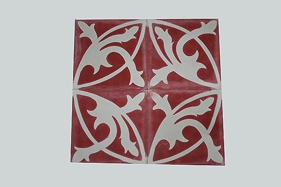 Piastrelle Di Cemento Colorato : 4 x oriental piastrelle di cemento colorato piastrelle mondial 412
