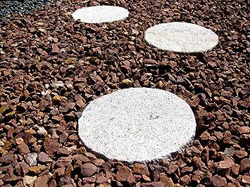 Trittsteine für den Garten aus Granit gelb rund: Amazon.de: Garten