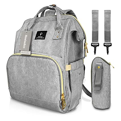 Baby Diaper Nappy Mummy Changing Bag Backpack USB Multi-Function Hanging Bag UK Baby