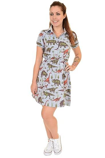 Ladies Run   Fly 80s Adventure Dinosaur T Shirt Skater Dress  Amazon ... 7a0610b725c7