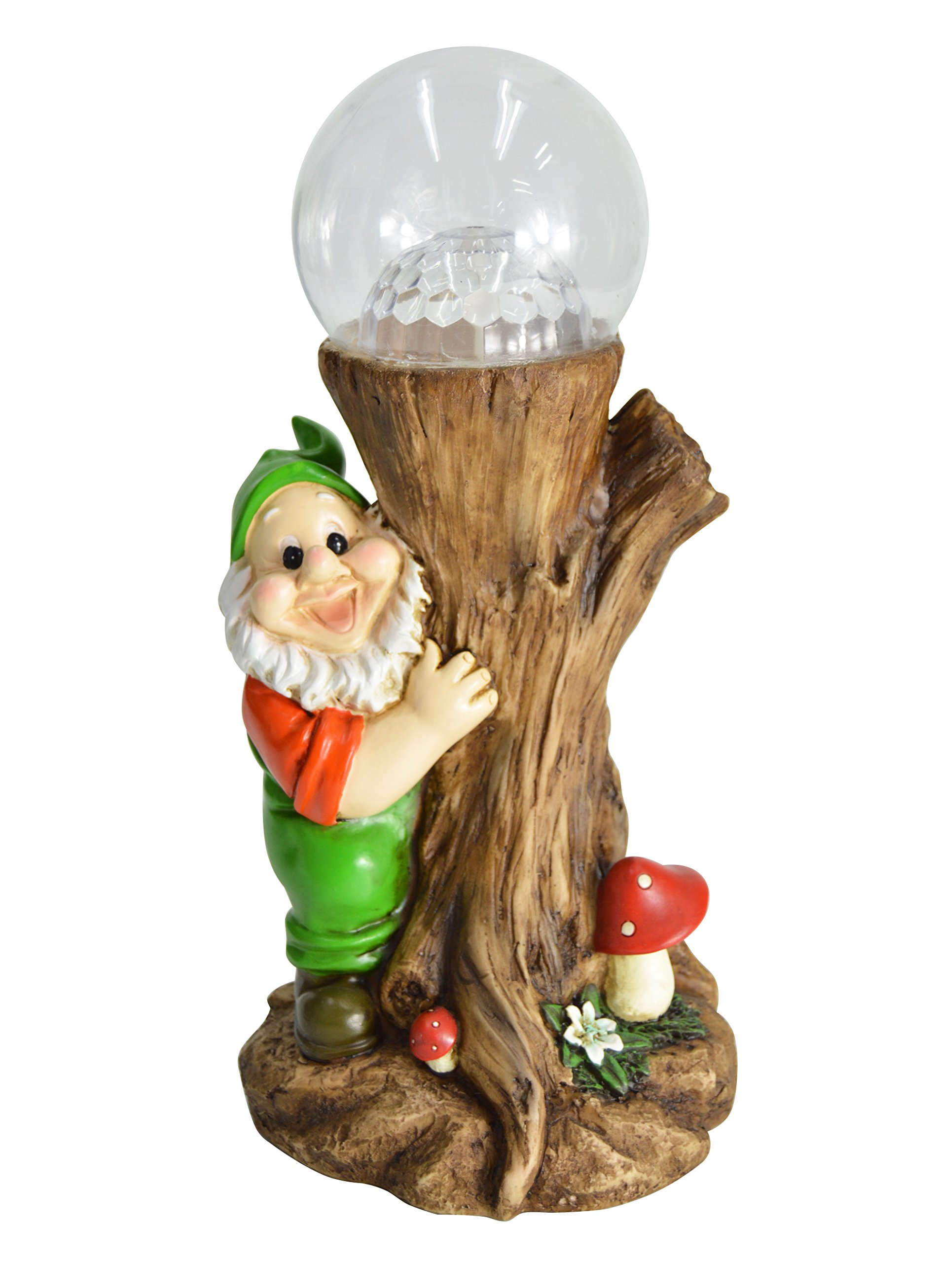 HOMESHINE Color Changing Solar Powered Light Gnome Garden Statues Outdoor Lawn Decorations 12 inch by HOMESHINE