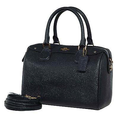 22e486212279 Coach Womens Leather Hand shoulder bag F57521 (Dark blue)  Handbags   Amazon.com