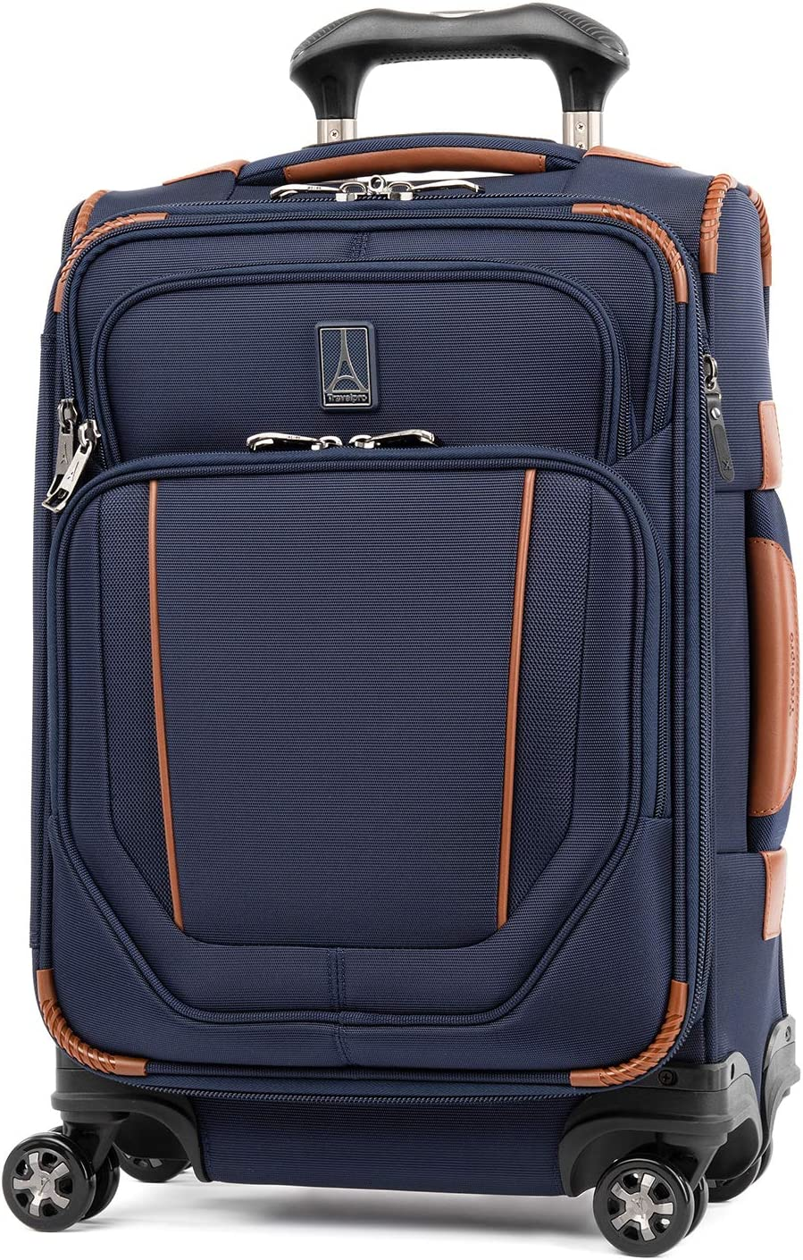 Travelpro Crew Versapack-Softside Expandable Spinner Wheel Luggage, Patriot Blue, Carry-On 20-Inch