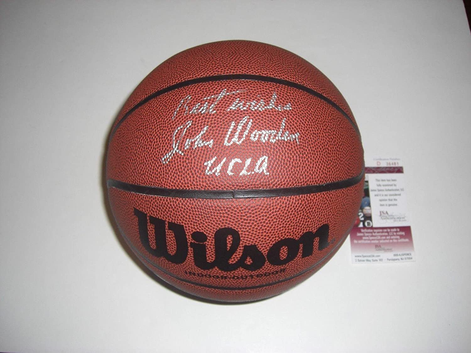 John Wooden Signed Autographed 8X10 Photo Vintage Playing Purdue JSA COA