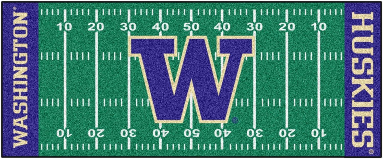 FANMATS NCAA University of Washington Huskies Nylon Face Football Field Runner