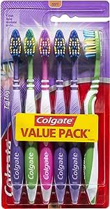 Colgate ZigZag V Shape Deep Interdental Clean Toothbrush Soft Value, 6 Pack