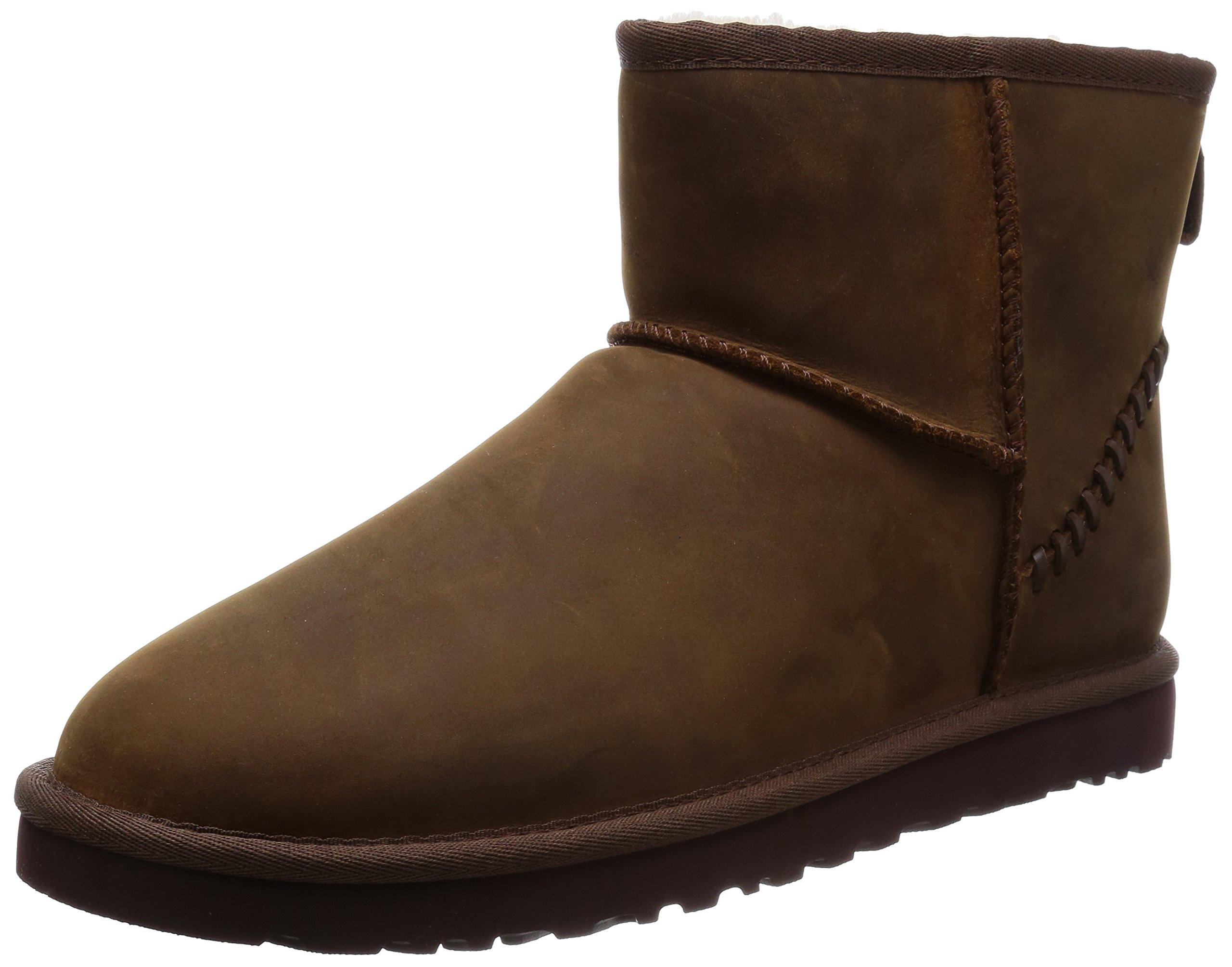 UGG Men's Classic Mini Deco Chestnut Leather Boot 8 D (M)