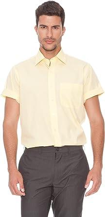 Rushmore Camisa Popelín Amarillo M: Amazon.es: Ropa y accesorios