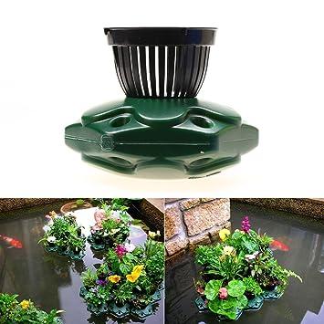 3 Pot Floating Koi Pond Plastic Planter Basket Decor for Soil /& Root Containment