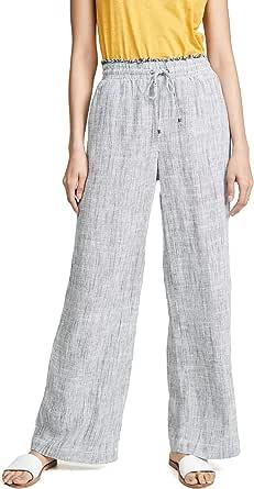 Splendid Women's Linen Wide Leg Pant Bottom